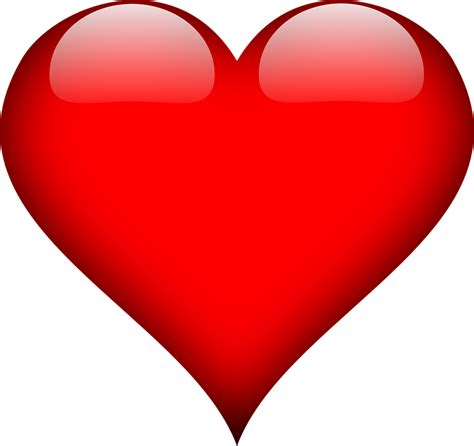 heart love red  vector graphic  pixabay