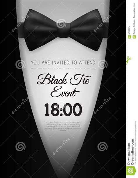 elegant black tie event invitation template stock