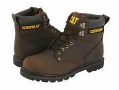 Caterpillar 2nd Shift  Dark Brown Leather  Men s Work Boots  Caterpillar Shoes