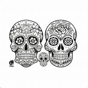 Tete De Mort Mexicaine Femme : transfert thermocollant t tes de mort mexicaines noires ~ Melissatoandfro.com Idées de Décoration