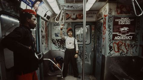 guardian on the nyc subway early 1980s oldschoolcool