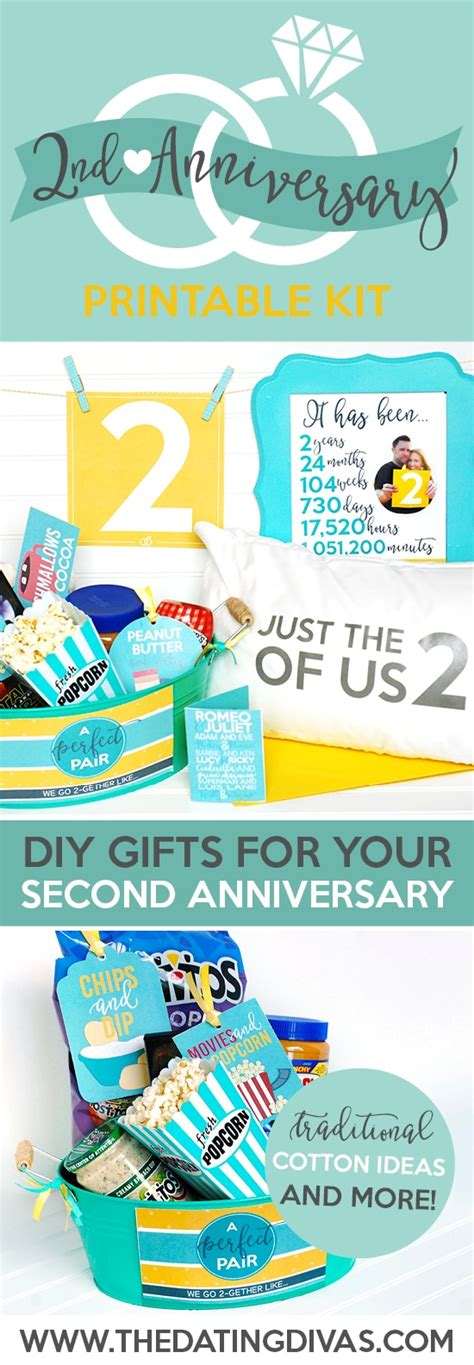 2nd anniversary gift second anniversary gift printable kit the dating divas