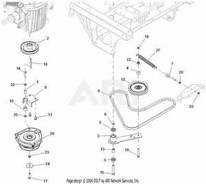 Gravely 992239  041000 -   Pro-turn 472 Parts Diagram For Clutch And Belt  Drive