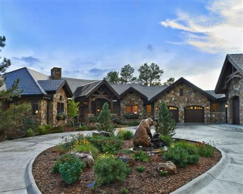 stone  wood home  warm country mountain living