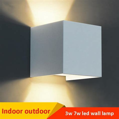7w led indoor wall l surface mounted cube led wall