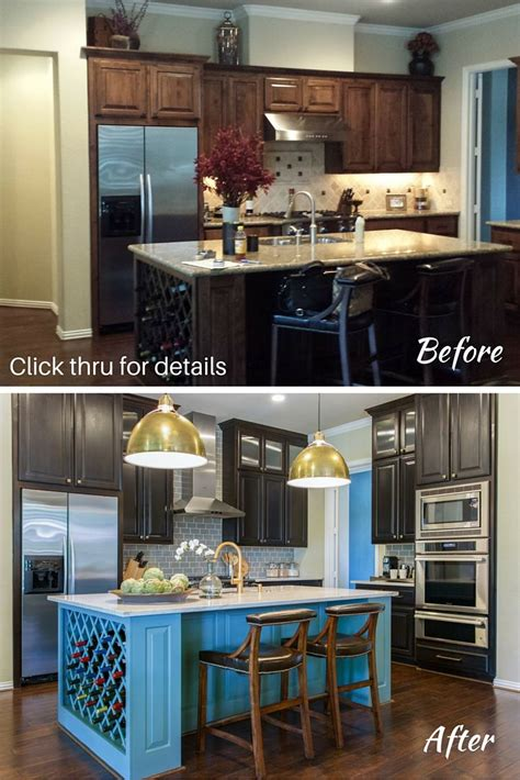 gray kitchen backsplash before after this living room kitchen remodel shows 1319
