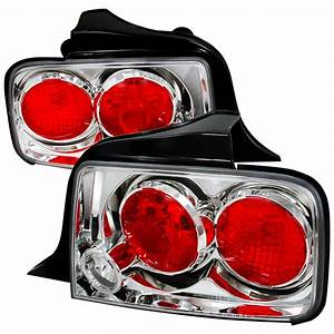 05-Up Ford Mustang Tail Lights - Chrome