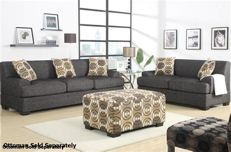 gray sofa and loveseat set poundex montreal f7447 f7446 grey fabric sofa and loveseat