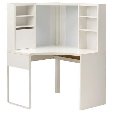 Micke Corner Workstation White Trends With Ikea Desk Hutch
