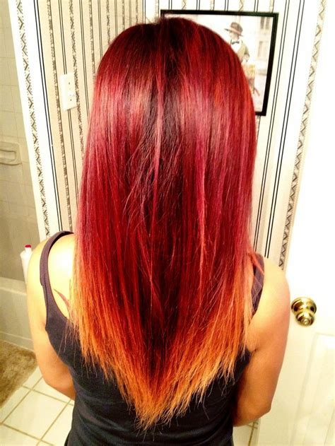 167 Best Images About Redorange Ombre Hair On Pinterest
