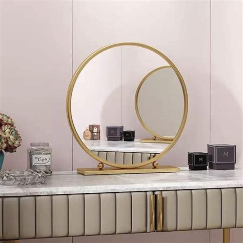 กระจกตั้งโต๊ะ Luxury (ขาจุดกลมข้าง) - Commansfurniture