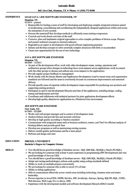 jee software engineer resume sles velvet jobs