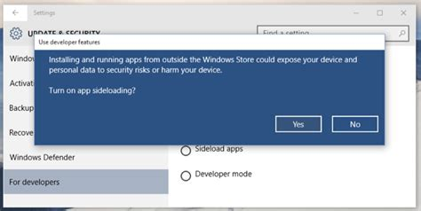 windows 10 allows you to sideload universal apps just
