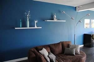 salon bleu canard chaioscom With sol gris quelle couleur pour les murs 12 salon bleu petrole bleu canard et bleu paon
