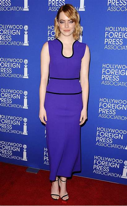 Emma Stone Carpet Purple Hollywood Foreign Celebrity