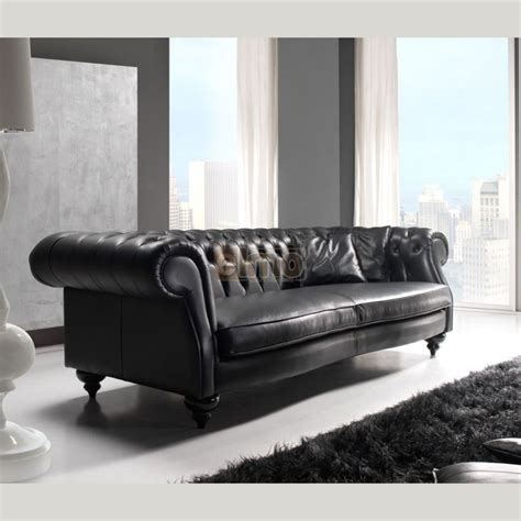 canape d angle chesterfield cuir canapé chesterfield contemporain 2 ou 3 places cuir