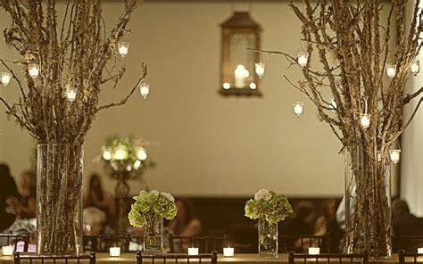 wedding decor tree branch details