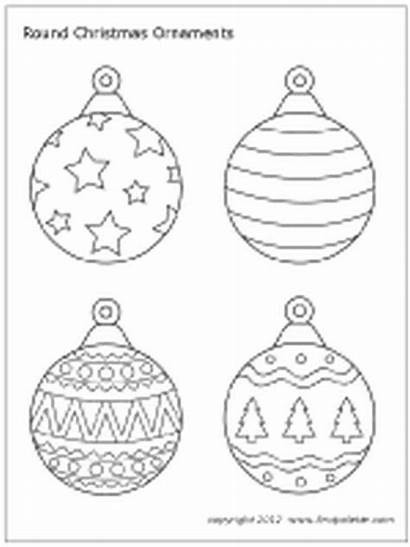 Christmas Ornament Coloring Pages Printable Outline