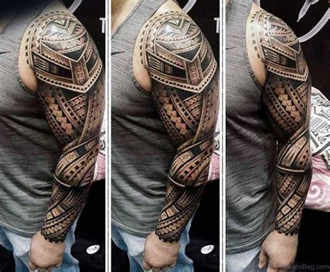 56 Maori Tattoo Designs On Full Sleeve
