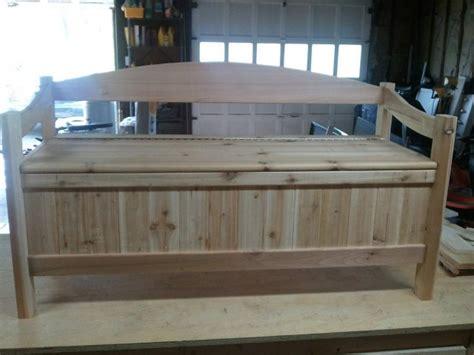 wooden storage bench plans   build diy woodworking blueprints   wood work