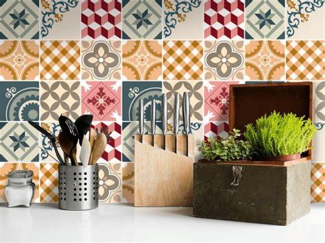 meuble cuisine pas cher et facile le carrelage adhésif carreaux de ciment un relooking