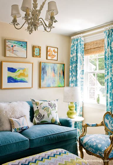 Toward the side of the room with the lower ceilings and perhaps over the sofa, consider using a large piece of art or a gallery wall that fills about 2/3 of the vertical wall space. belle maison: Design Dilemma: What to do Above the Sofa?