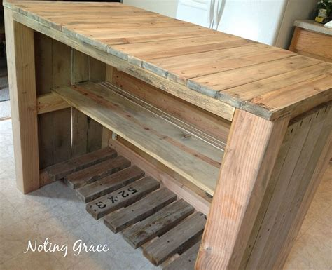 kitchen island made out of pallets hometalk how to make a pallet kitchen island for less 9414