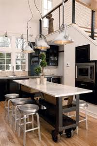narrow kitchen island the industrial roller marble island a narrow kitchen design for the nest