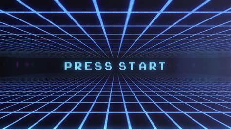 video game background press start stockvideos