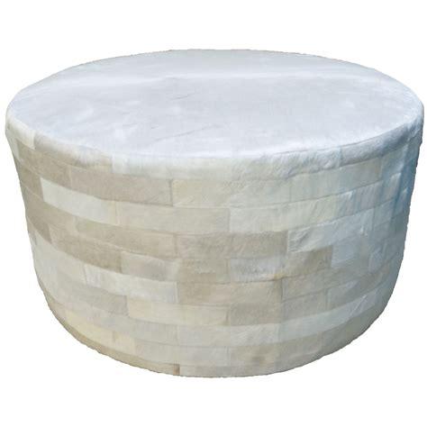 36 x 36 ottoman white round cowhide ottoman 36 inch