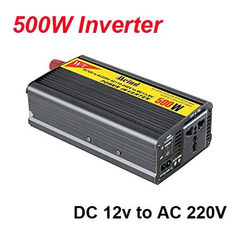 nameo 500w inverter with charger 12v dc to 220v ac converter ac adapter power supply car