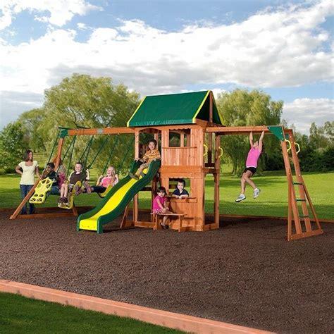 Big Backyard Play Equipment by Playground Equipment Heavy Duty Swing Set Wooden