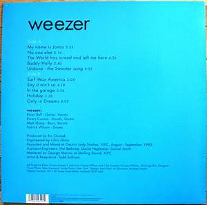 Weezer - Weezer ( Blue Album ) Vinyl Lp · Revealed Records ...