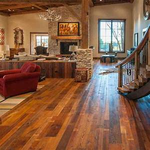 reclaimed barn wood floors rustic living room los With barn wood rooms