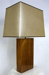 solid slab koa wood table lamp at 1stdibs With koa wood floor lamp
