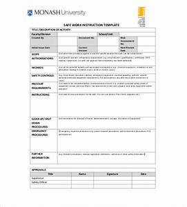 instruction template 7 free word excel pdf documents With instructional manual template