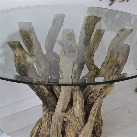 driftwood round dining table small natural driftwood round dining table by karen miller