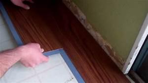 Allure by Traffic Master flooring install - YouTube