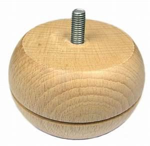 Pied De Lit En Bois : pied de meuble bois boule rainur 86 mm h tre naturel h ~ Premium-room.com Idées de Décoration