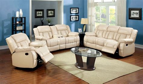 Ivory Leather Sofa And Loveseat by Barbado Reclining Sofa Cm6827 In Ivory Leather Match W Options