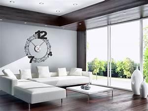 Designer Uhr Wand : wanduhren als wandtattoos mit zeiger ~ Michelbontemps.com Haus und Dekorationen