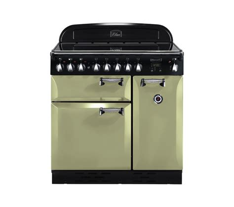 stoves induction range cooker buy rangemaster elan 90 electric induction range cooker olive green chrome free delivery