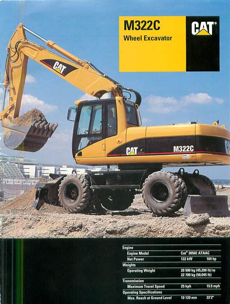 cat mc rubber tire excavator wd