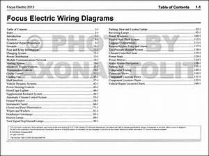2013 Ford Focus Electric Wiring Diagram Manual Original