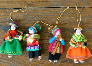 items similar to set of 4 peruvian dolls christmas ornaments on etsy