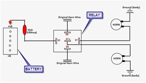 Great Wiring Diagram For Horn Relay Simple