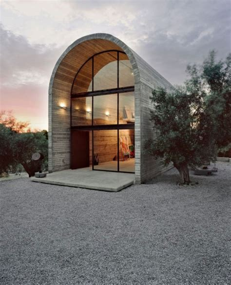 arch roof house the art warehouse an expression of simple modern architecture
