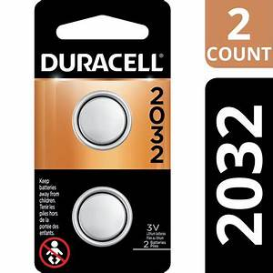 Duracell 3V Lithium Coin Battery 2032, 2 Pack, Long ...