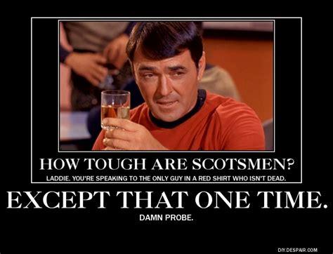 Redshirt Meme - scotty red shirt meme star trek pinterest tv tropes star trek and trek