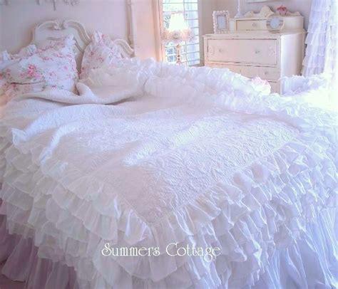 dreamy white ruffles bedding layers of ruffles shabby cottage chic